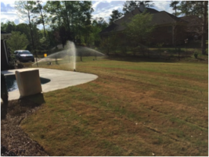 Irrigation system water fresh sod and landscaping